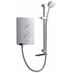 View Item Mira Sport White and Chrome 9.0kW Thermostatic Electric Bathroom Shower