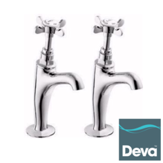 View Item Deva Coronation BS1010 Chrome High Neck Kitchen Sink Pillar Taps CR27A