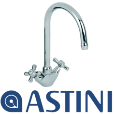 View Item ASTINI Nostalgia Chrome Twin Handle  Kitchen Sink Mixer Tap AK005