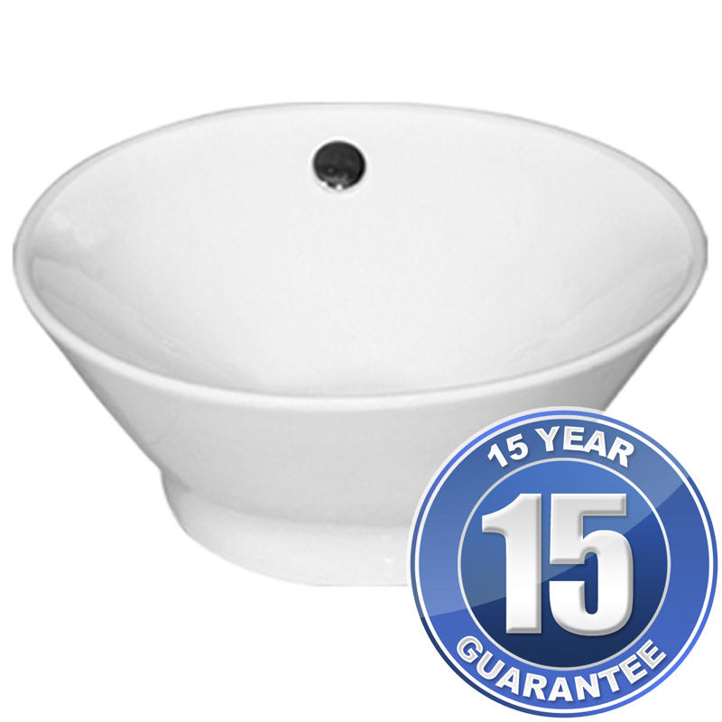 View Item Europa Atlas 0TH White Ceramic Counter Top Bathroom Basin Sink A23