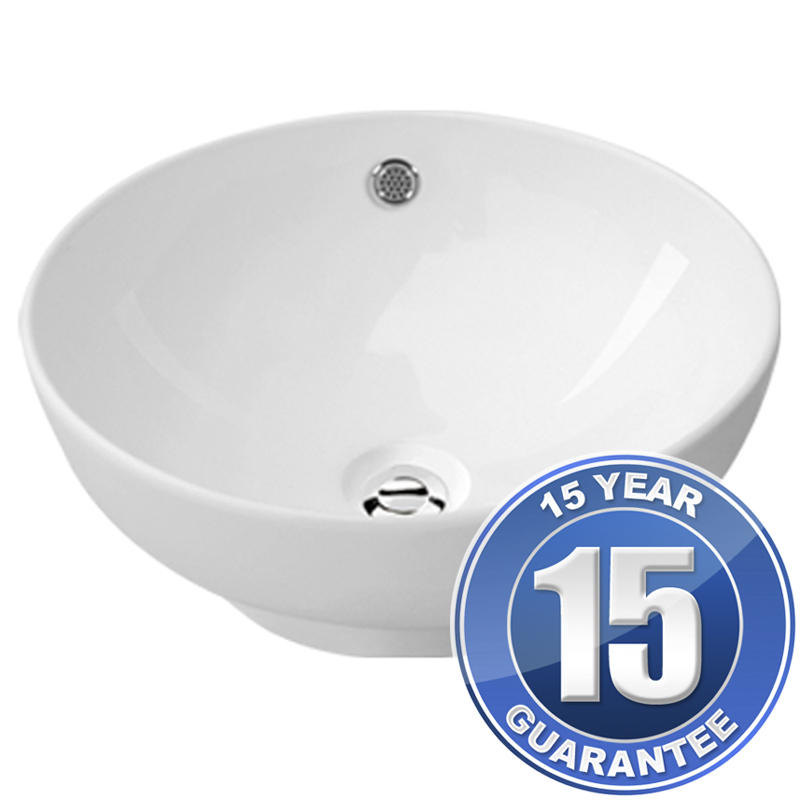 View Item Europa Legacy 0TH White Ceramic Counter Top Bathroom Basin Sink A19