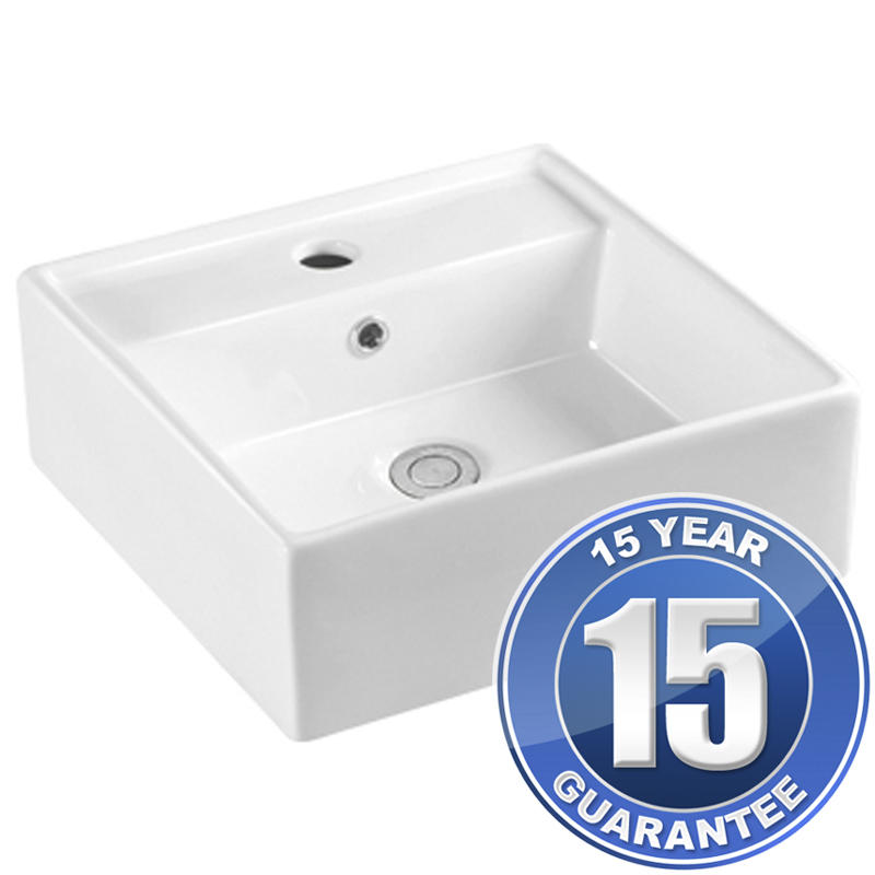 View Item Europa Rondo 1TH White Ceramic Counter Top Bathroom Basin Sink A63