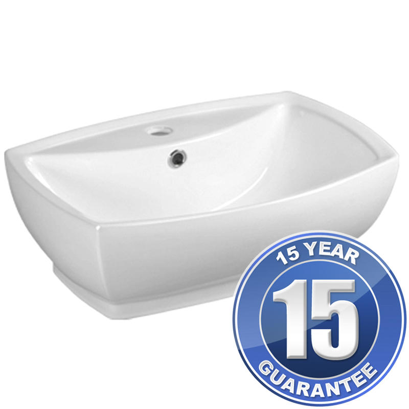 View Item Europa Ceto 1TH White Ceramic Counter Top Bathroom Basin Sink A33