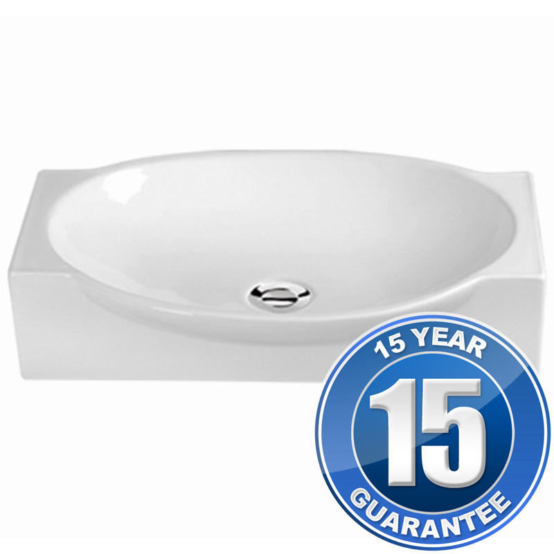 View Item Europa Euro 0TH White Ceramic Counter Top Bathroom Basin Sink A13