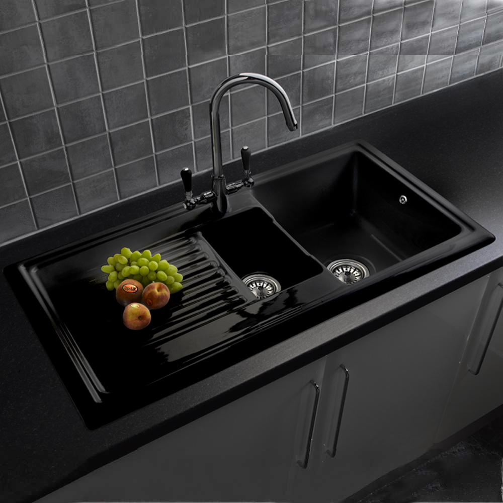 Corner Kitchen Sink Undermount Black
