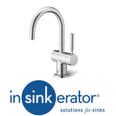 View Item Insinkerator ISE Chrome Steaming Hot & Cold Kitchen Sink Kettle Tap HC3300
