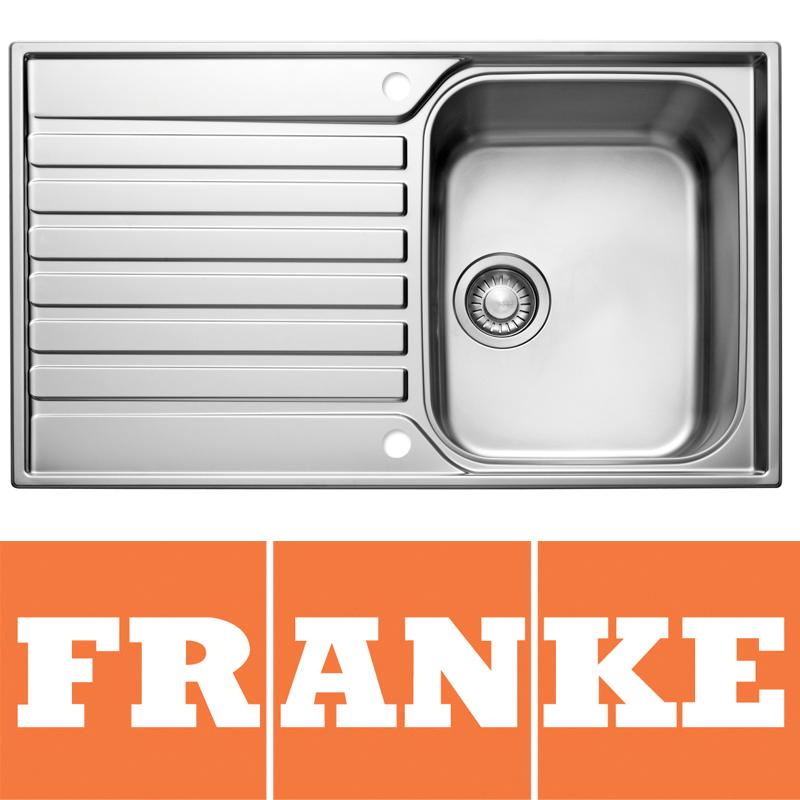 Franke Ascona 1 0 Bowl Silk Stainless Steel Kitchen Sink ASX611 Sink Only EBay