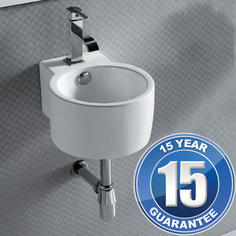 View Item Europa Swift 1TH Contemporary Ceramic Bathroom Wall Hung Basin Sink 4292