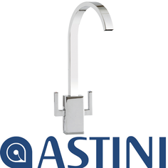 View Item ASTINI Metropolitan Chrome Twin Lever Kitchen Sink Mixer Tap HK49
