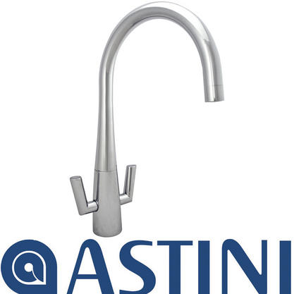ASTINI Cosmopolitan Chrome Twin Lever Kitchen Sink Mixer Tap HK50 Preview