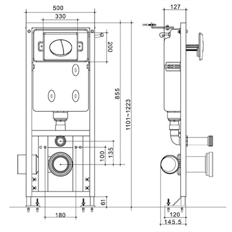 dimension wc suspendu avec bati free hauteur toilette. Black Bedroom Furniture Sets. Home Design Ideas