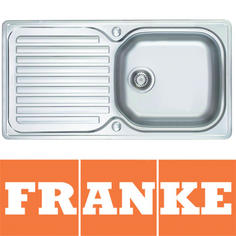 View Item Franke Elba 1.0 Bowl Polished Stainless Steel Kitchen Sink & Waste ELN611 96