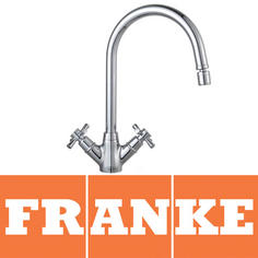 View Item Franke Rotaflow Chrome Twin Handle Kitchen Sink Mixer Tap