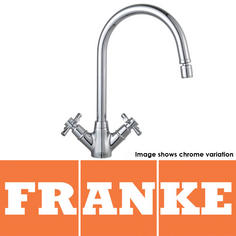 View Item Franke Rotaflow Silk Steel Twin Handle Kitchen Sink Mixer Tap