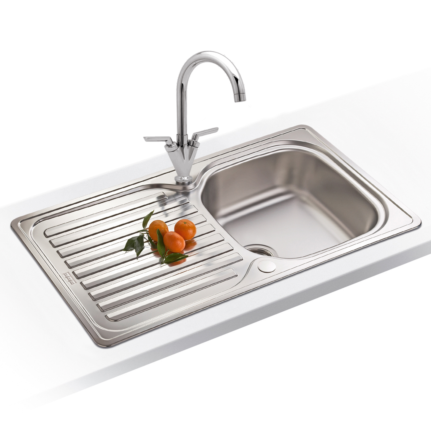Franke Sinks And Taps : Taps UK - Franke Elba 1.0 Bowl Polished Stainless Steel Kitchen Sink ...