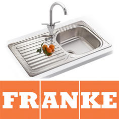 View Item Franke Elba 1.0 Bowl Polished Stainless Steel Kitchen Sink, Waste & Tap ELN611