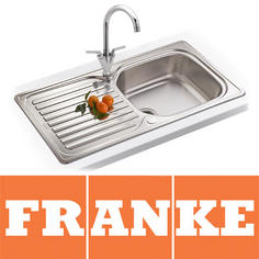 View Item Franke Elba 1.0 Bowl Polished Stainless Steel Kitchen Sink, Waste & Tap ELN61196