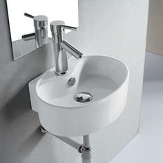 View Item Europa Lazio 1TH Contemporary Ceramic Bathroom Wall Hung Basin Sink 4358