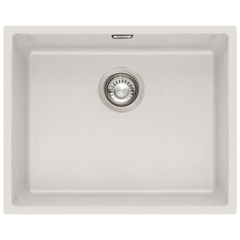 ... Sirius 1.0 Bowl Granite Polar White Undermount Kitchen Sink SID110-50