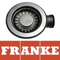 View Item Franke 90mm Silk Stainless Steel Kitchen Sink Basket Strainer Waste 112.0080.949