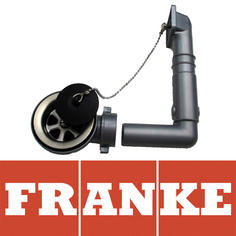 View Item Franke 60mm AH304026 Stainless Steel Sink Waste, Plug & Overflow 133.0047.665