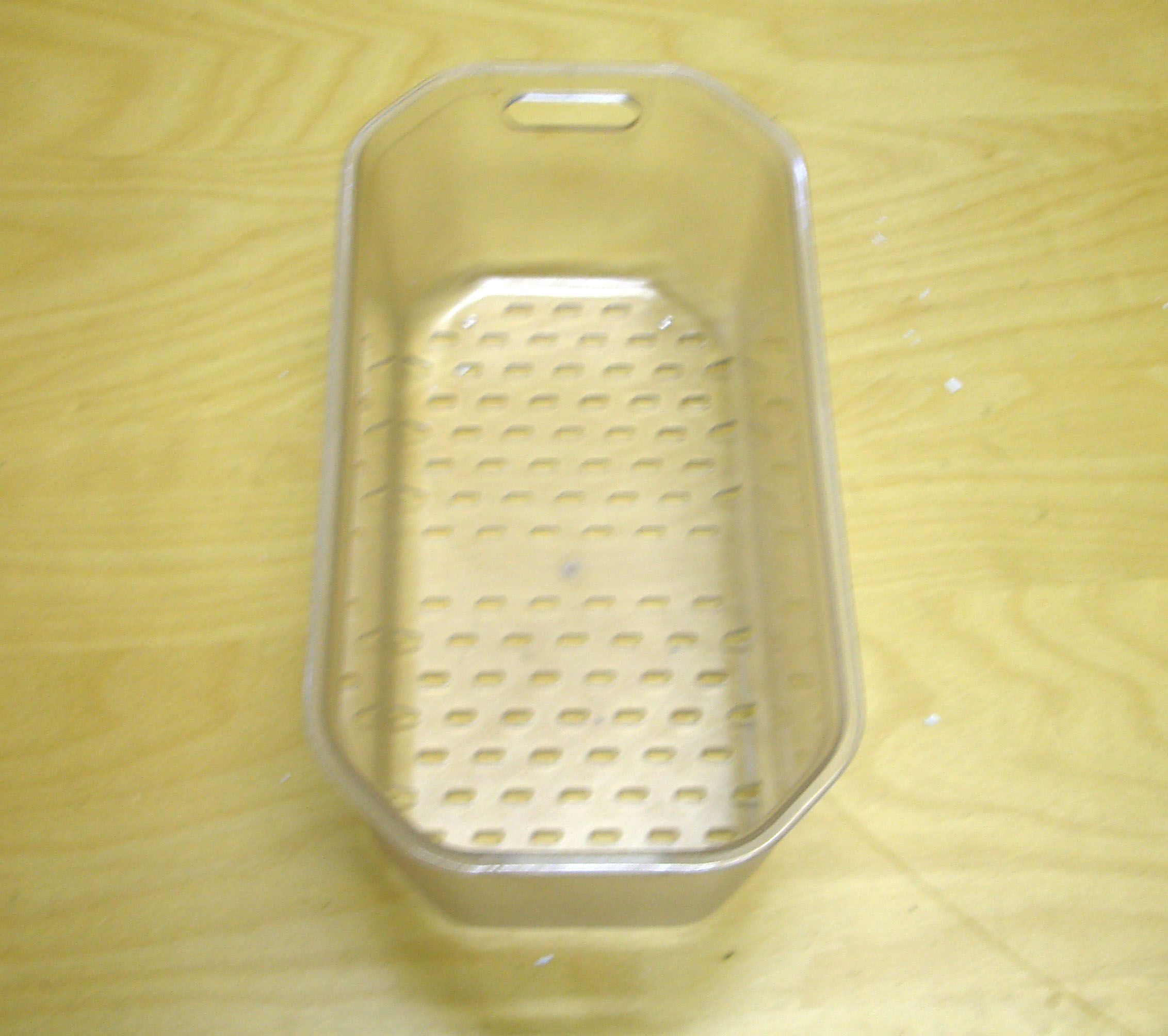 Kitchen Sink Drainer Basket Clear Plastic