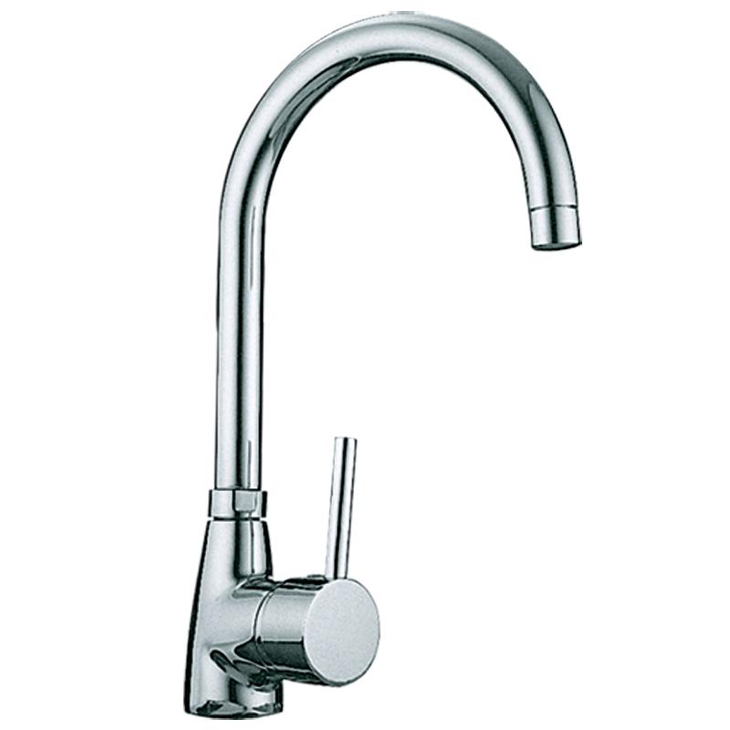 Sink Taps : ... Chrome Single Lever Swivel Spout Kitchen Sink Mixer Tap T3100 eBay