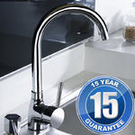 View Item Kadaya Chrome Single Lever Swivel Spout Kitchen Sink Mixer Tap T3100