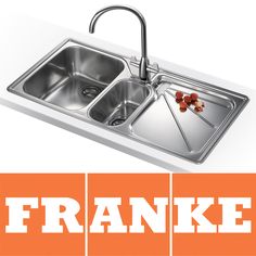 View Item Franke Ariane 1.5 Bowl Silk Stainless Steel Kitchen Sink & Franke Tap RHD ARX654