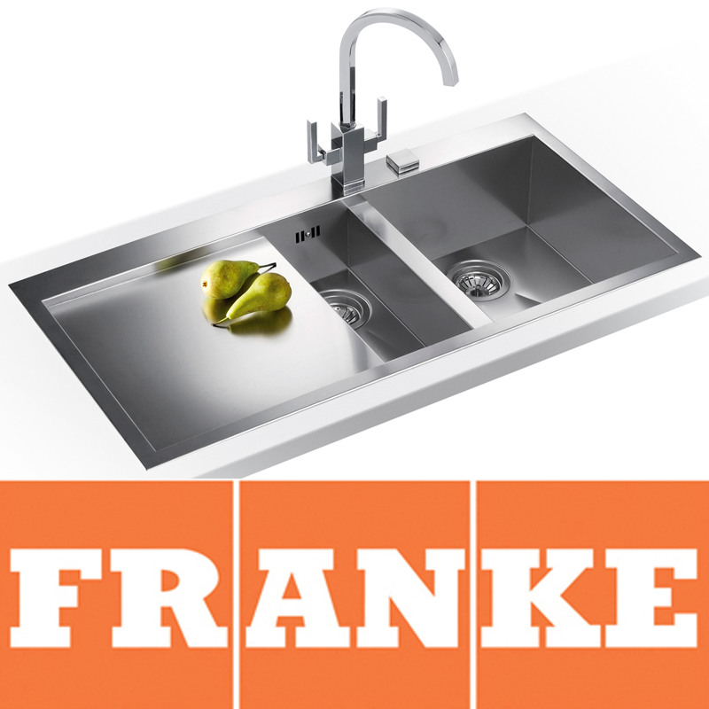 UK - Franke Planar Slim-Top 1.5 Bowl Silk Steel Kitchen Sink & Franke ...