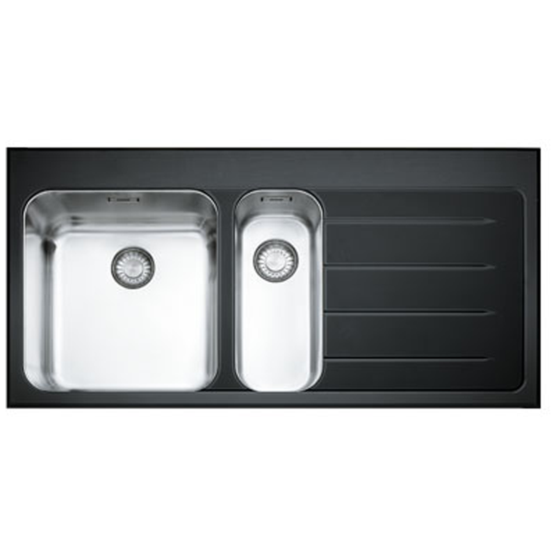Franke Black Glass Sink : UK - Franke Epos 1.5 Black Glass Stainless Steel Kitchen Sink & Franke ...