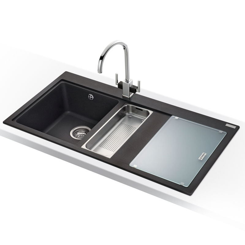 Franke Black Kitchen Sink: Franke Mythos 1.5 Bowl Granite Onyx Black Kitchen Sink