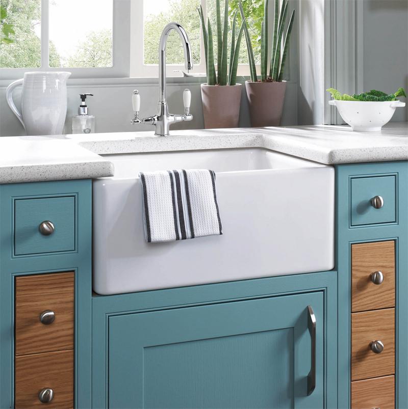 Astini belfast 100 1 0 bowl traditional white ceramic kitchen sink waste tap ebay - Butler kitchen sinks ...