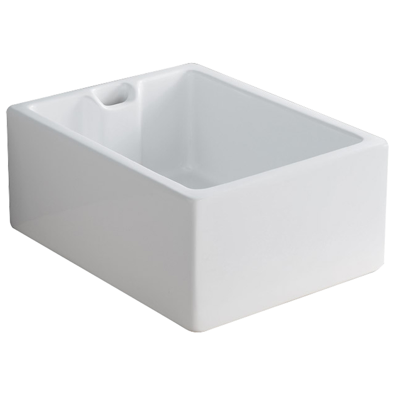Astini belfast 100 1 0 bowl traditional white ceramic for White ceramic bathroom bin