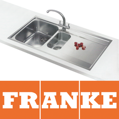 View Item Franke Maris Slim-Top 1.5 Bowl Silk Steel Kitchen Sink MRX251 RHD & Franke Tap