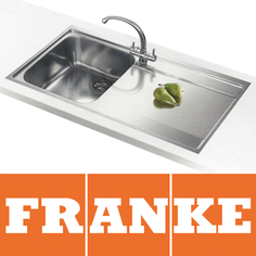 View Item Franke Maris Slim-Top 1.0 Bowl Silk Steel Kitchen Sink MRX211 RHD & Franke Tap