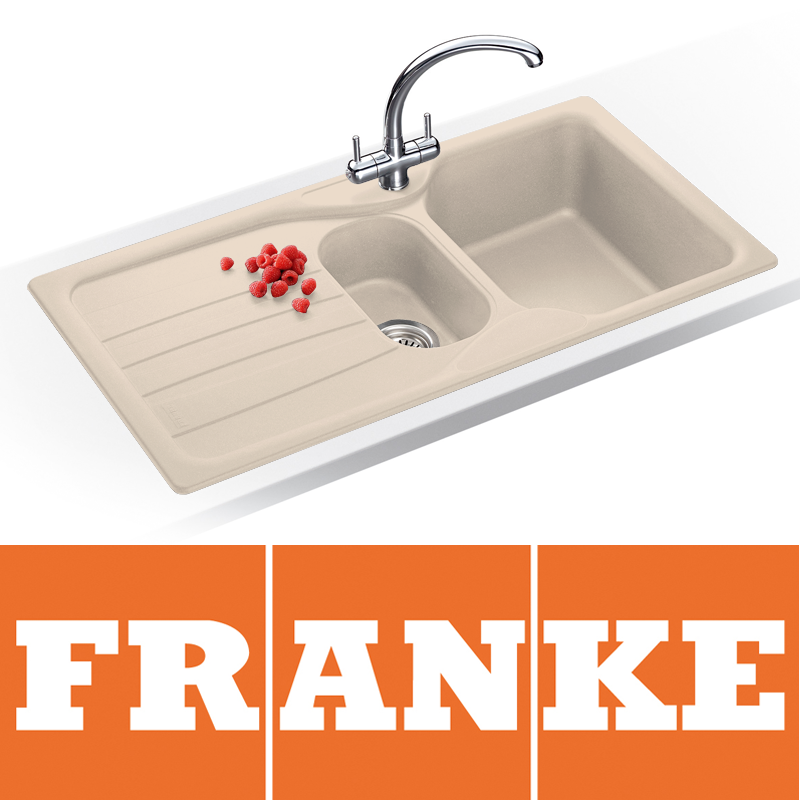 Taps UK - Franke Calypso 1.5 Bowl Granite Coffee Beige Kitchen Sink ...