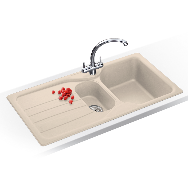 Franke Calypso Sink : Taps UK - Franke Calypso 1.5 Bowl Granite Coffee Beige Kitchen Sink ...