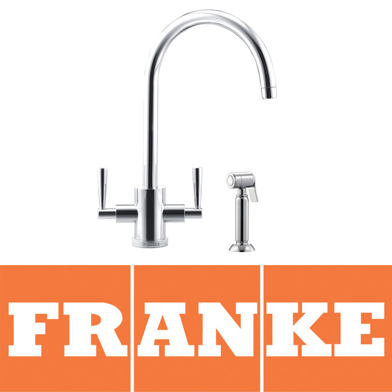 View Item Franke Olympus Chrome Kitchen Sink Mixer Tap & Side Spray