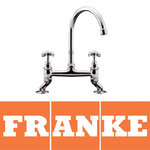 View Item Franke Bridge Chrome Twin Handle Traditional Swivel Spout Kitchen Sink Mixer Tap