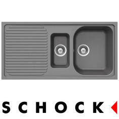 View Item Schock Lithos D150 1.5 Bowl Granite Croma Grey Kitchen Sink & Waste