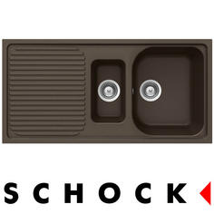 View Item Schock Lithos D150 1.5 Bowl Granite Mocca Brown Kitchen Sink & Waste