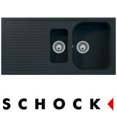 View Item Schock Lithos D150 1.5 Bowl Granite Lava Black Kitchen Sink & Waste