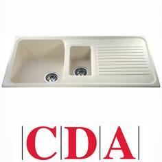 View Item CDA Asterite 1.5 Bowl Granite Ivory Kitchen Sink AS2IV