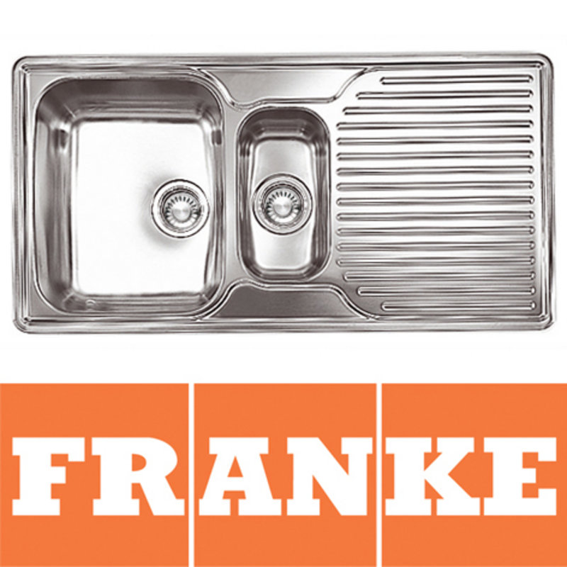 View Item Franke Ariane 1.5 Bowl Silk Stainless Steel Kitchen Sink & Waste RHD ARX651P