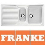 View Item Franke Ariane 1.5 Bowl Granite Polar White Kitchen Sink & Waste ARG651