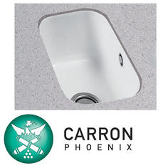 View Item Carron Phoenix Carlow 50 1.0 Bowl White Ceramic Kitchen Sink