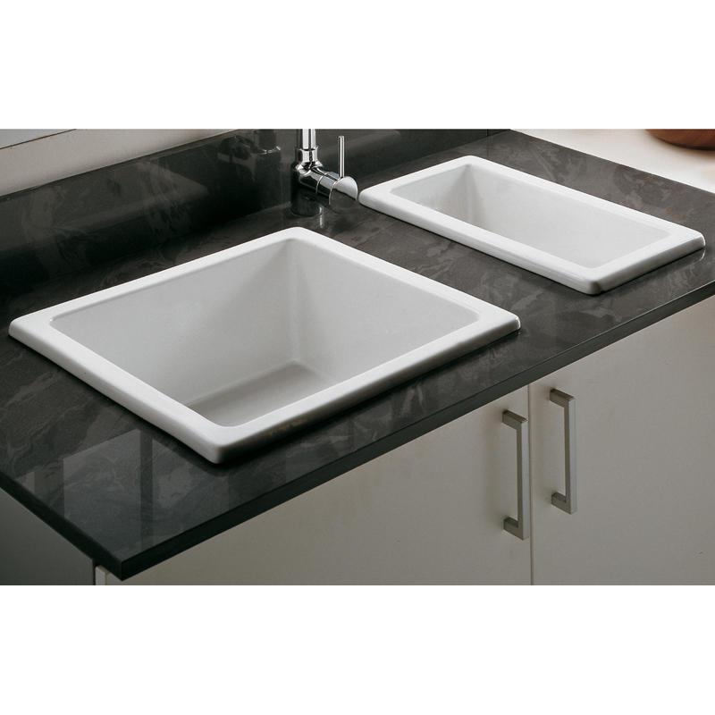 Undermount Sink Ceramic : ... .comAstini Hampton 50S White Ceramic Undermount Kitchen Sink & Waste