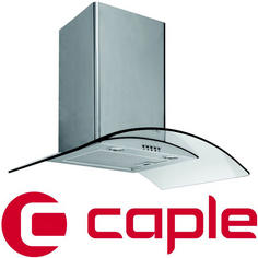 View Item Caple Stainless Steel Wall Chimney Hood with Curved Clear Glass CGC600SS