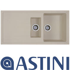 View Item Astini Gianni 1.5 Bowl Granite Colorado Beige Kitchen Sink & Waste